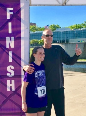 Photo with Brooke at finish