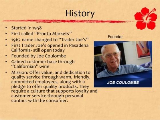 Trader Joe's Joe and bit history